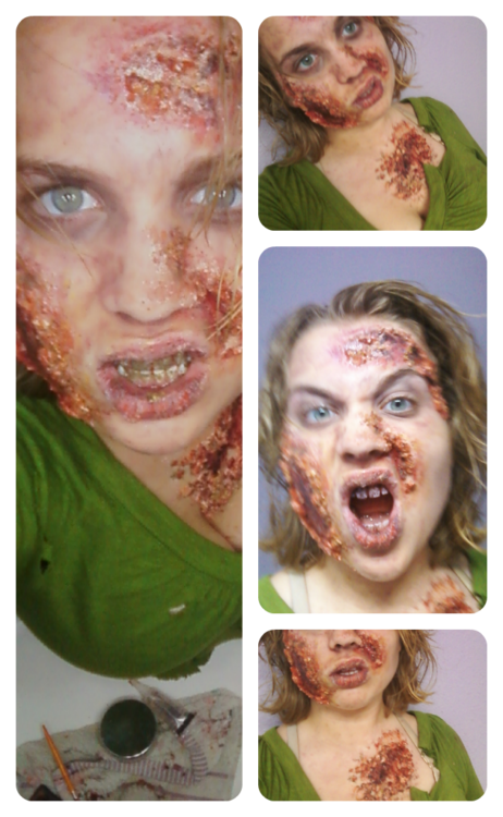 Zombie makeup png. Zombies done with oatmeal