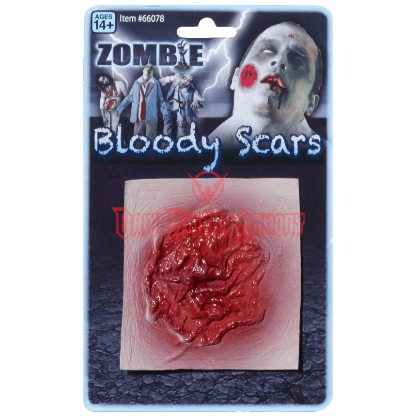 Transparent scars zombie. Bloody scar fm from