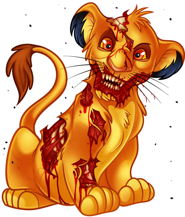 Dragoart drawing. Undead simba from the