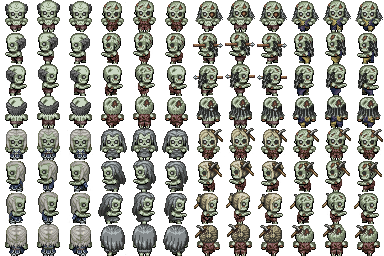 Zombie sprite png. Waking up rpg maker