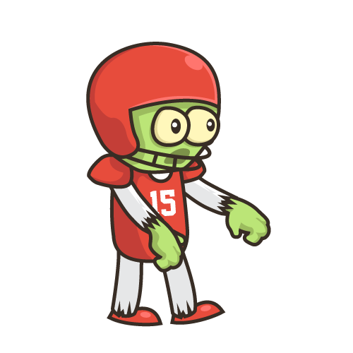 Zombie sprite png. Football player game building