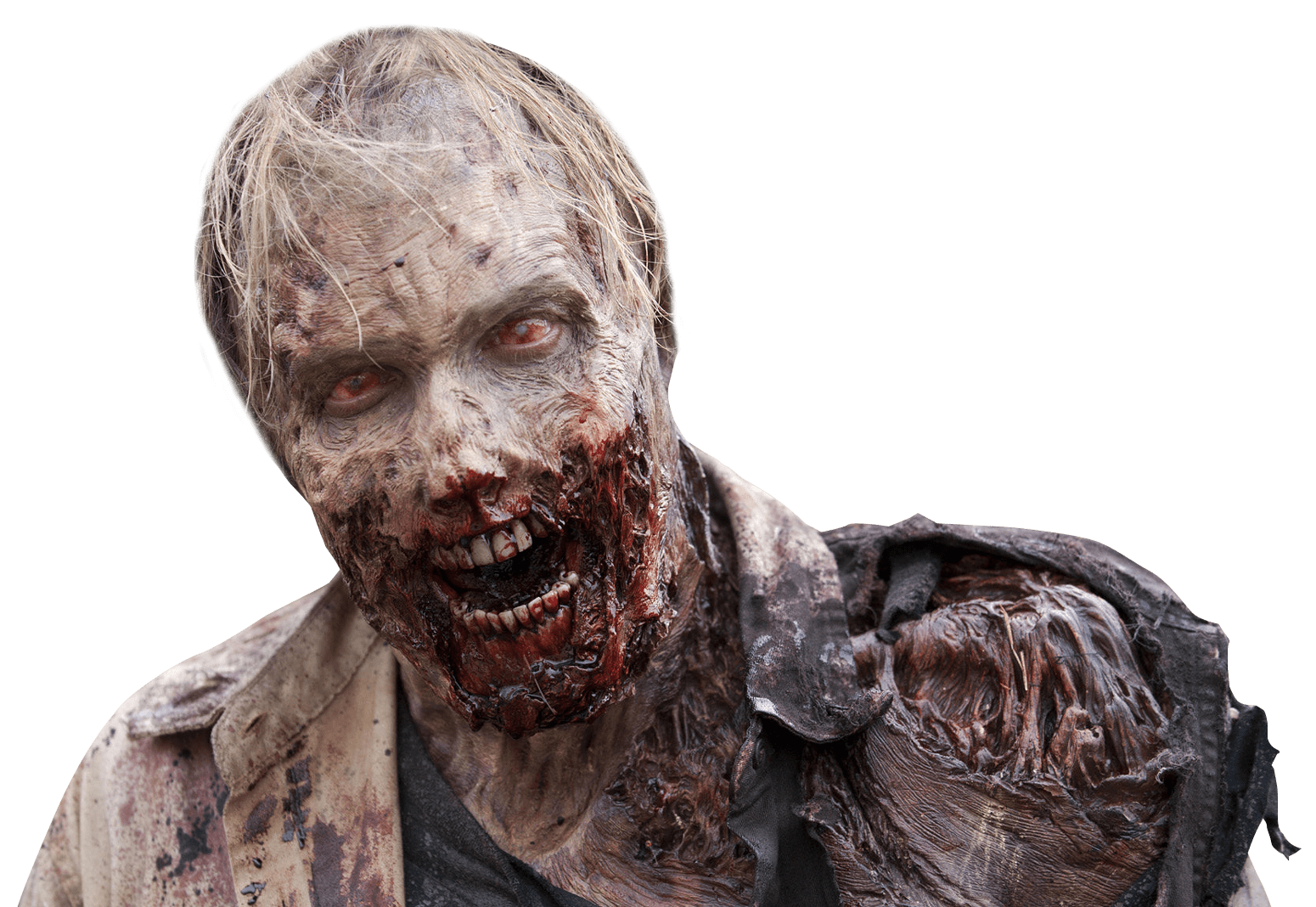 Transparent scars zombie. Bloody png stickpng