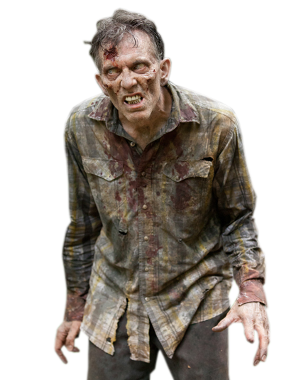walking dead zombie png