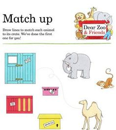 Zoo clipart dear zoo. Story sack activity unit
