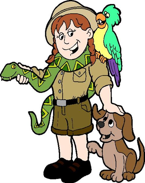 Zoo clipart tour guide. Pencil and in color