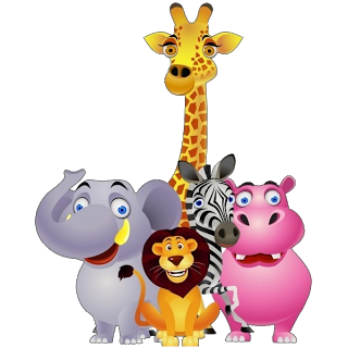 Giraffe lion and elephant. Zoo clipart zebra png freeuse stock