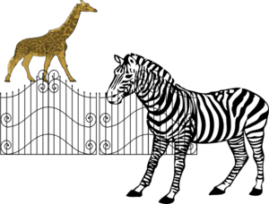Animals clip art at. Zoo clipart zebra graphic library library