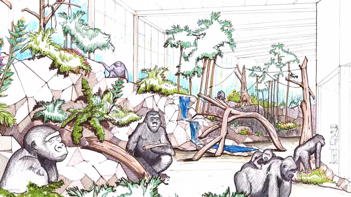 Cincinnati plans us m. Zoo clipart zoo enclosure clipart black and white download