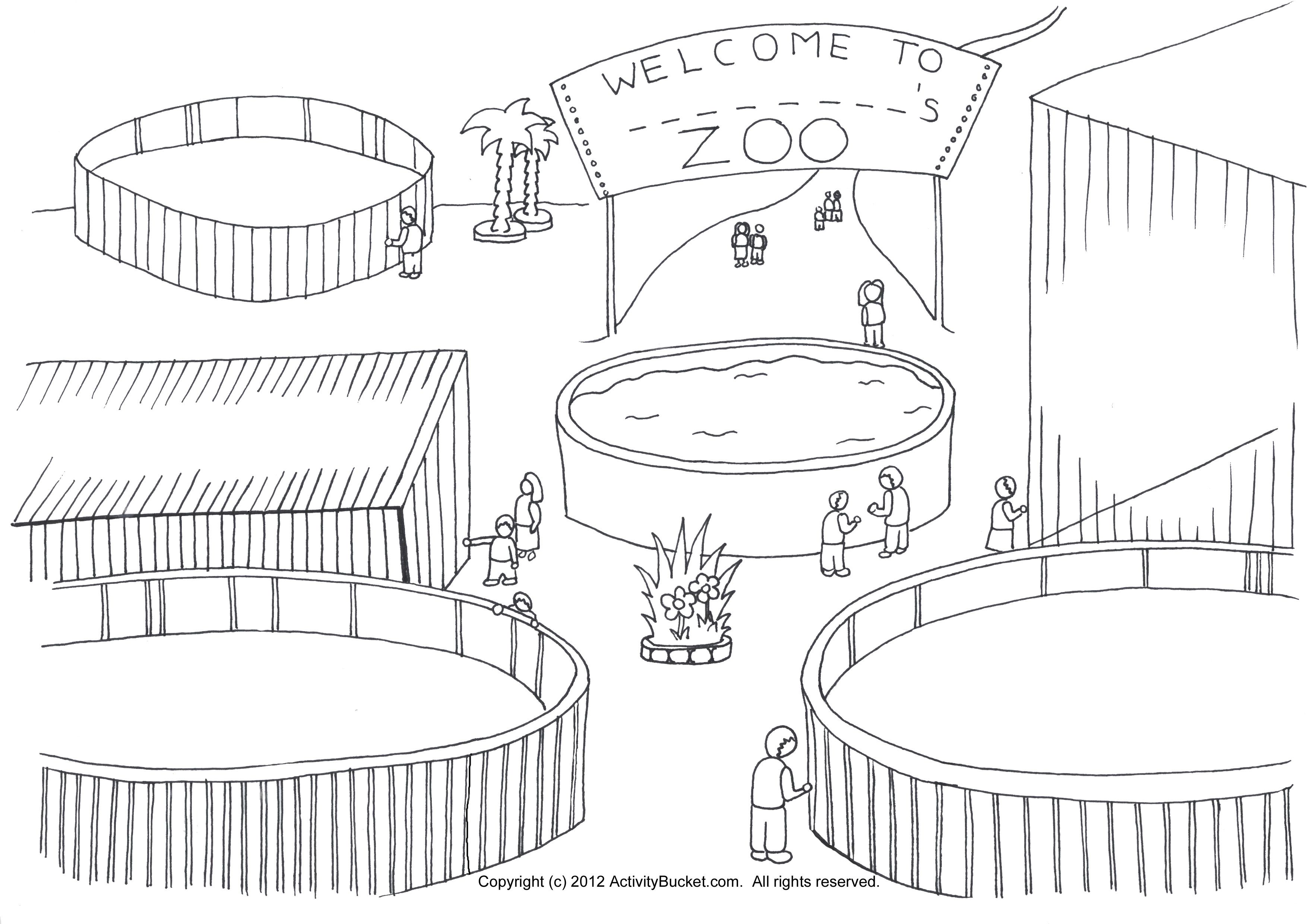 Zoo clipart zoo habitat. My coloring page pre