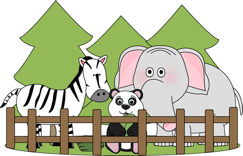 Zoo vector background. Svg black and