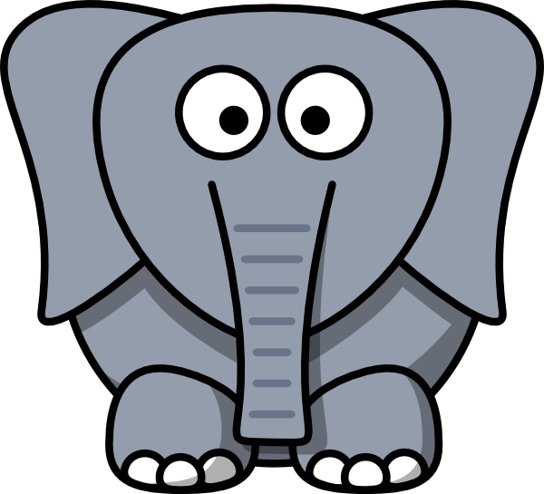 Zoo vector cartoon elephant. Attractive best brilliant pic