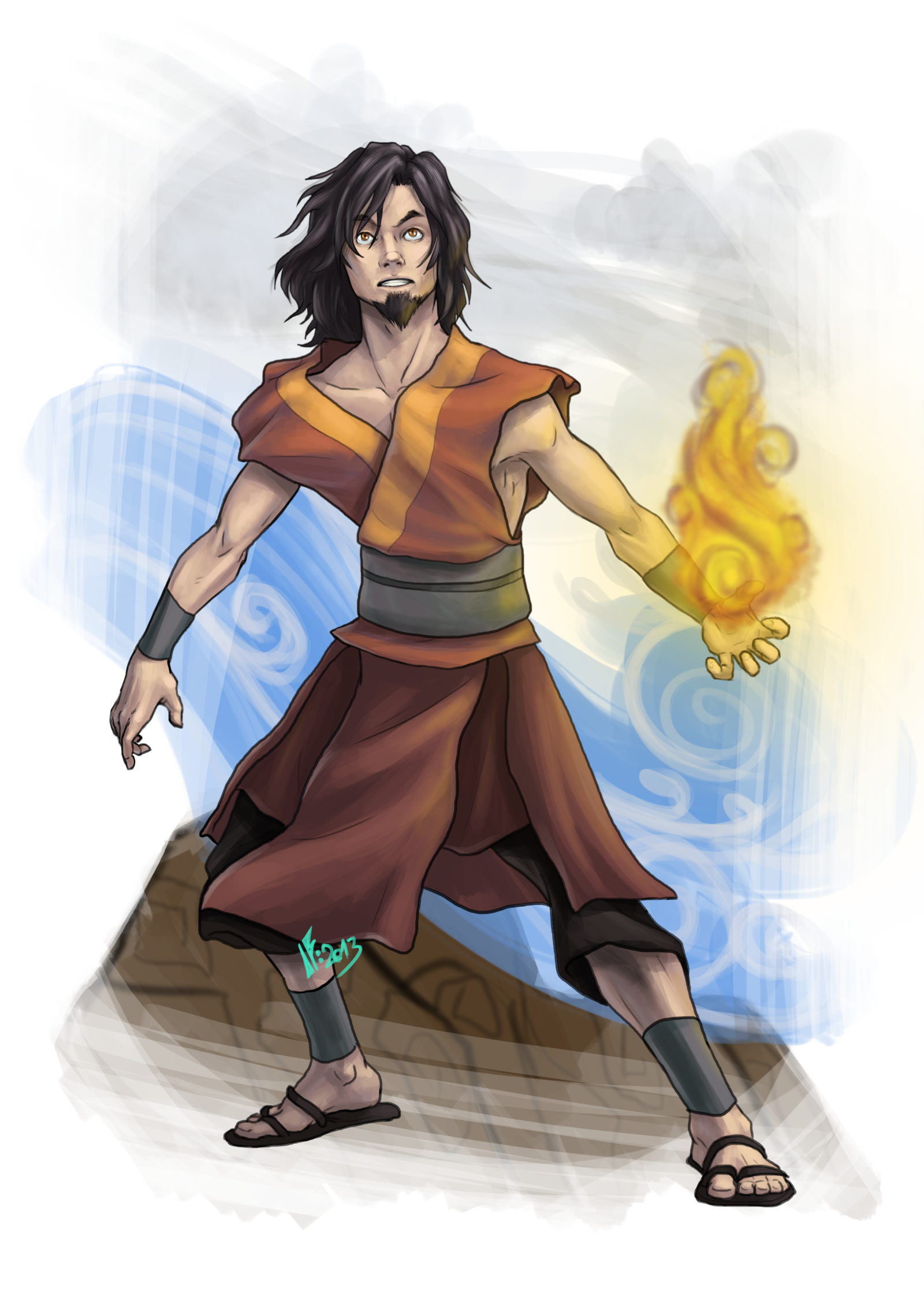 Zuko drawing sketch. Avatar wan by infernal