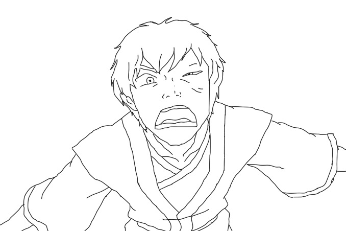 Zuko drawing. Lineart by juicyculture on