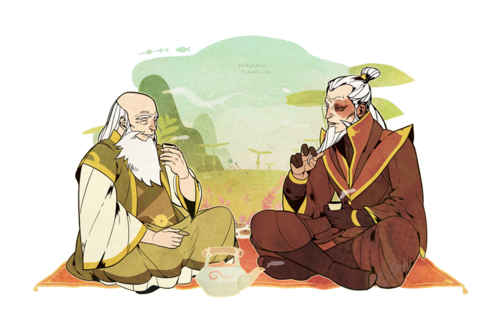 Zuko drawing iroh. Visiting uncle the last