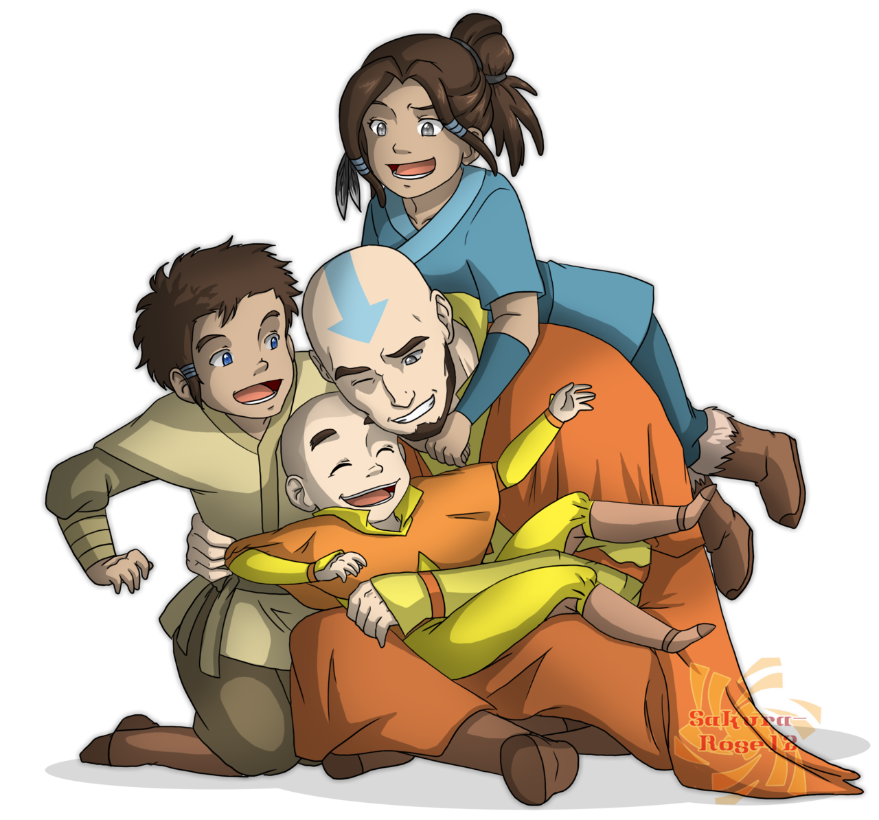 Zuko drawing viria. Aang and his kids