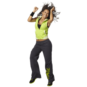 Transparent dancer zumba. Fitness class ymca of