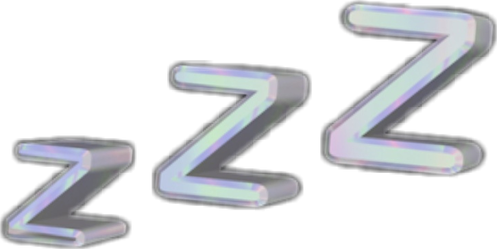 Zzz transparent aesthetic. Sleeping holo holographic vaporwave